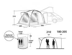 Lều Outwell - Milestone Pro